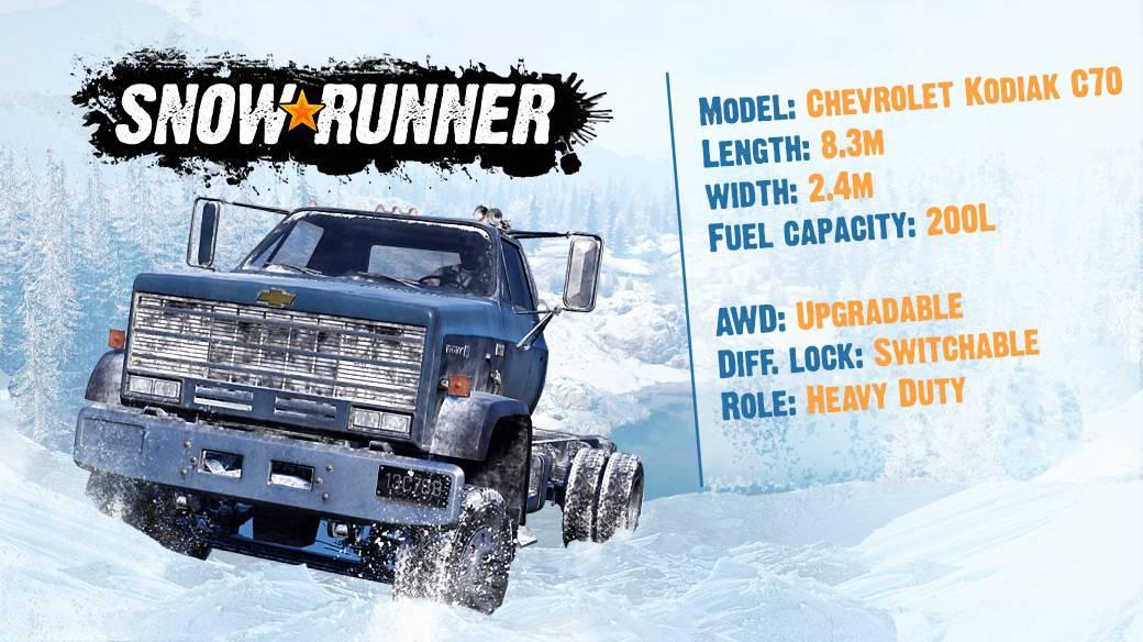 Snowrunner Chevrolet Kodiak C70 Truck Snowrunner Mod Download